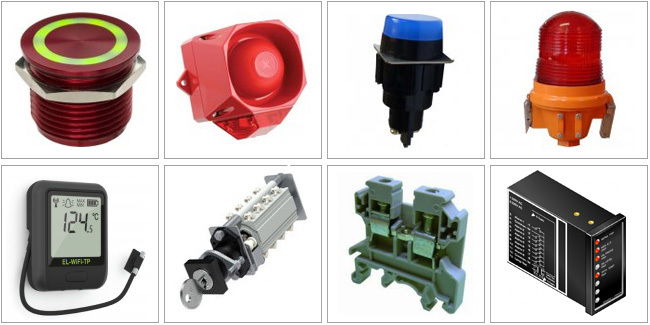 Control Components, Audible & Visual Warning Devices, Digital Indicators, Control Desks, Alarm & Modbus Systems, Interface Products,  Relays & PSU, Data Loggers, Door Monitoring