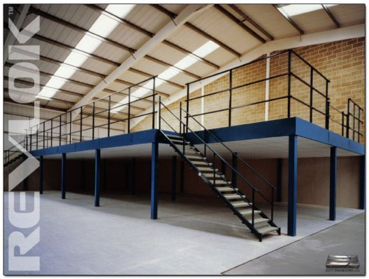 Mezzanine floor manufacturer revlok mezzanine flooring for How to build a mezzanine floor in your home