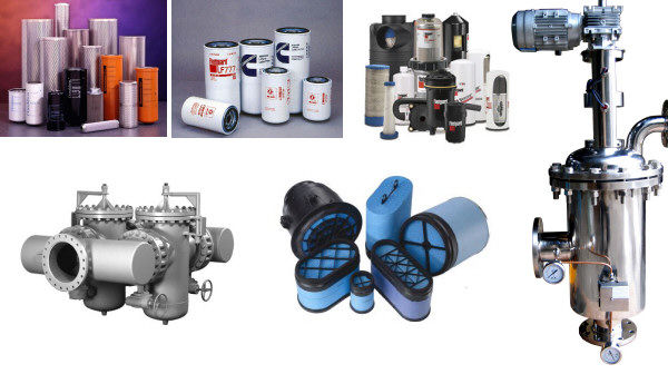 Hydraulic Filter, Oil Filter, Fuel Filter, Air Filter, Coalescing Filter, Water Filters, Duplex Strainer