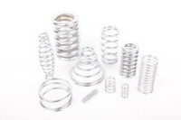 A compression spring is an open-coil helical spring that offers resistance to a compressive force applied axially.
