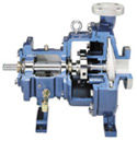 Used in the chemical, process and paper and pulp industries the model 8196 ANSI or ASME chemical process pump is a heavy duty centrifugal pump.