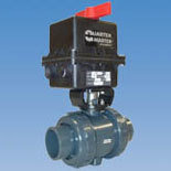 Ball valves, butterfly valves, diaphragm valves, and gate valves are often automated with pneumatic or electric actuators.