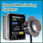 Monitoring systems for use with bearing temperature sensors, belt alignment switches, level indicators, level and plug switches