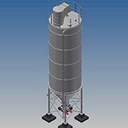 Each silo from the standard range of Bulk Technik bulk product storage silos is statically calculated for the given material bulk density/properties and geographical location.