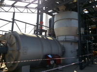 Fluid bed drying uses a heated gas to lift and maintain the feed in a fluidized state.