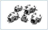 """Our bevel gearbox P Series has a compact """"monobloc"""" design provides a visually attractive, quality finished, casing, produced from die-casting, in lightweight, aluminium alloy."""