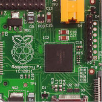 The Raspberry Pi is a credit-card sized computer board that plugs into a TV and a keyboard.