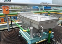 This filter was developed for the removal of organic solids from water including fruit pulp, sludge and paper fibres.