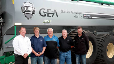 GEA Delivers 10,000th Liquid Manure Spreader to PK Winter Farms