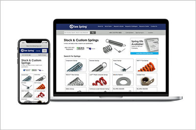 New website – New Online store from Lee Spring Ltd