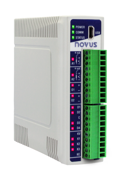 New NOVUS I/O Module Leads Industry 4.0 to DIN Rail