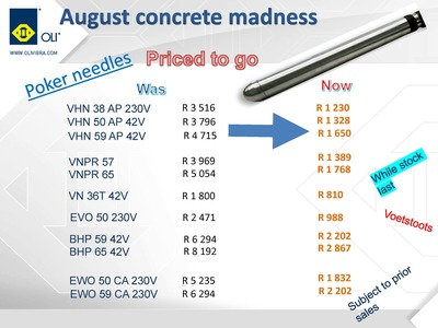 August concrete sector specials